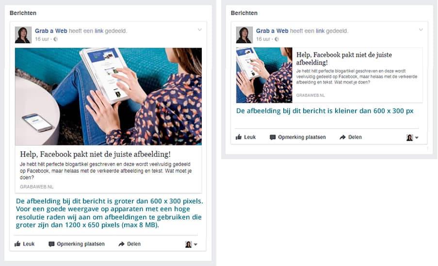 help facebook pakt niet de juiste afbeelding bij delen